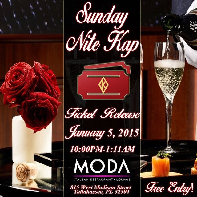 Nite Kap ticket release event TOMORROW 1/5/15 @MODA. Free entry. Tickets will be available from 10pm-1:11am ♦️♦️♦️♦️♦️♦️♦️♦️♦️♦️